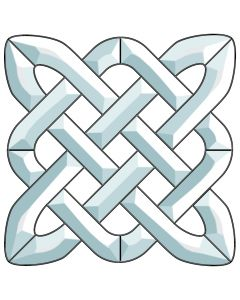 "Celtic Knot Bevel Cluster, 9-1/2"" x 9-1/2"""
