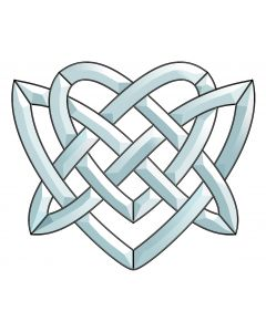 "Celtic Knot Bevel Cluster, 8-5/8"" x 10"""