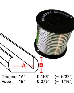 "Suncatcher U Lead Came, 1/16"", 15 lb. Spool (RU-100)"