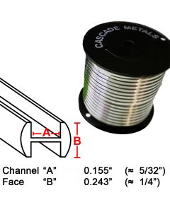 "Round H Lead Came, 1/4"", 15 lb. Spool (RH-6)"