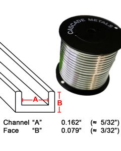 "Suncatcher U Lead Came, 3/32"", 15 lb. Spool (SU-59)"