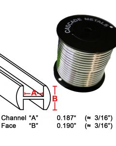 "Round H Lead Came, 3/16"", 15 lb. Spool (RH-5)"
