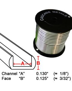 "Flat U Lead Came, 1/8"", 15 lb. Spool (RU-90)"