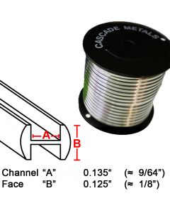 "Round H Lead Came, 1/8"", 15 lb. Spool (RH-3)"