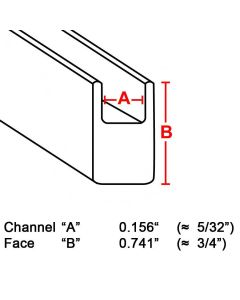 "Flat U Zinc Channel, 3/4"", 6' strip (ZB-750) Box (22 lb)"