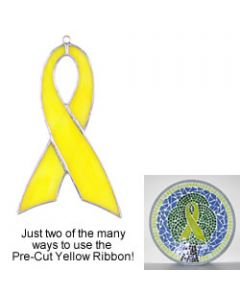 Pre-Cut Yellow Ribbon Suncatcher