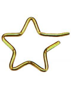 Small Wire Star Brass Accessories, pack/12