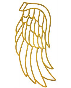 "Medium Angel Wing Filigree, 4-3/16"" x 2"""