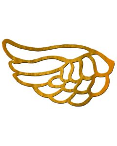 "Small Angel Wing Filigree, 2-1/4"" x 1-1/4"""