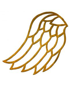 "Medium Angel Wing Filigree, 3-1/16"" x 1-13/16"""