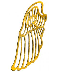 "Small Angel Wing Filigree, 2"" x 4-1/4"""