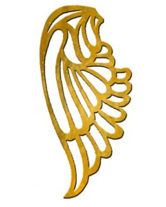 "Small Angel Wing Filigree, 1-1/2"" x 3"""