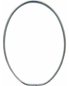 "Oval Wire Frames, 8-1/2"" x 5-3/4"", pack/6"
