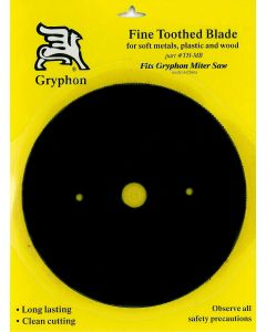 Gryphon Miter Saw Blade, Fine Toothed, Metal