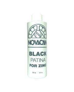 Novacan Black Patina for Zinc, 8 oz.