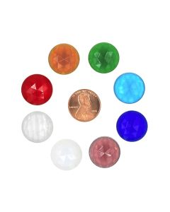 Round Faceted Jewel, 18mm