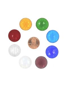 Round Faceted Jewel, 20mm