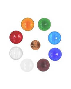 Round Faceted Jewel, 25mm
