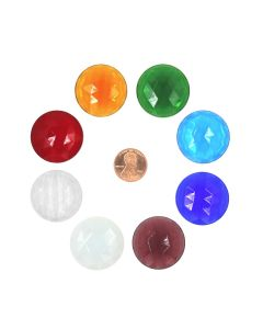 Round Faceted Jewel, 30mm