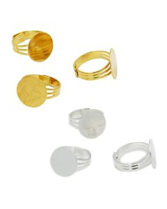 Plated Ring with Flat Disk, pack/3