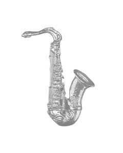 Saxophone Hand Cast Sculpture