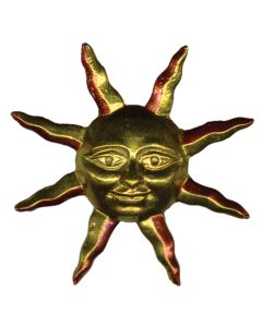 Sun wth Pointy Rays Hand Cast Sculpture