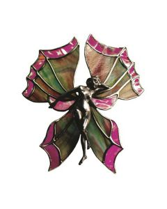 Fan Lamp Butterfly Lady Hand Cast Sculpture
