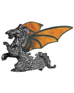 Full Figure Standing Dragon Hand Cast Sculpture