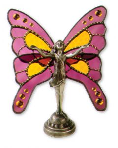 Butterfly Maiden Princess Boo Monster Metals Hand Cast Sculpture