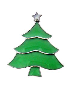 Green Christmas Tree Favorite Christmas Bevel Cluster