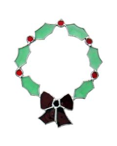Green Wreath Favorite Christmas Bevel Cluster
