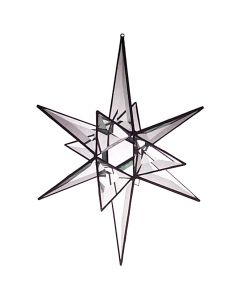 3-D Open Star Favorite Christmas Bevel Cluster