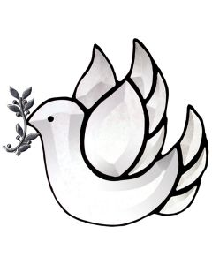 Peace Dove Favorite Christmas Bevel Cluster