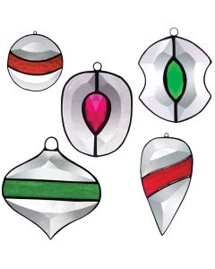 Five Ornaments Favorite Christmas Bevel Cluster