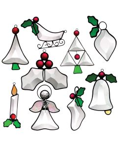 Mini Ornament Collection Favorite Christmas Bevel Cluster