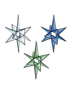 "3-D Open Center Star Bevel Cluster, 6-7/8"" x 5-1/8"""