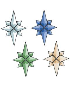 "Flat Star Bevel Cluster, 5"" x 7"""