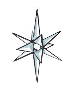 "Clear 3-D Open Center Star Bevel Cluster, 5"" x 6-3/4"""