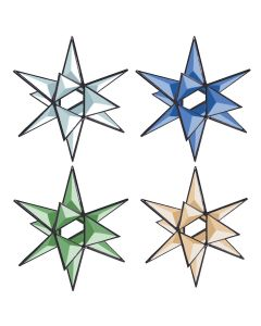 3-D Open Center Star Bevel Cluster, 3-1/2""