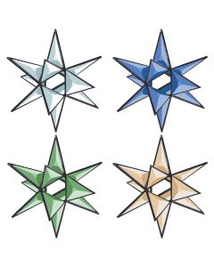 3-D Open Center Star Bevel Cluster, 5-3/4""