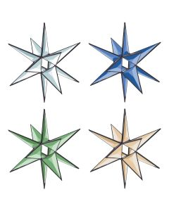 3-D Open Center Star Bevel Cluster, 7-3/4""