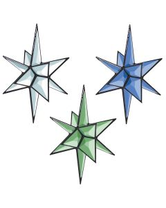 "3-D Closed Center Star Bevel Cluster, 6-7/8"" x 5-1/8"""