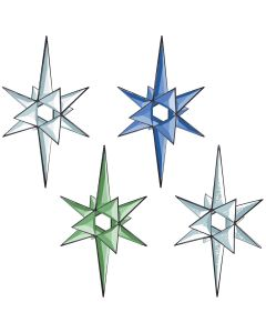 "3-D Open Center Star Bevel Cluster, 11-1/2"" x 9-1/2"""