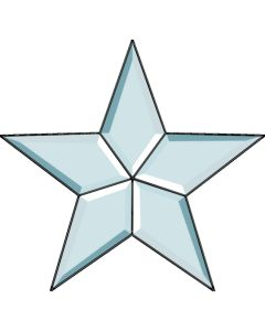 5 Point Star Bevel Cluster, 10-1/2""