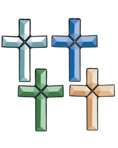 Crosses of Distinction Bevel Clusters, Assorted Colors, set/4