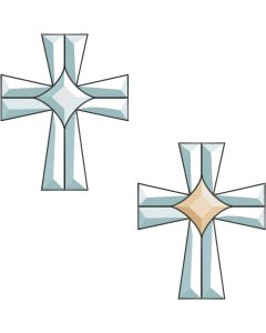 Center Cross Bevel Cluster
