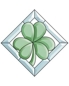 Shamrock Colored Bevel Cluster