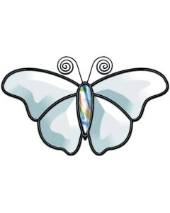 """Butterfly Bevel Cluster, 3-1/2"""" x 6-3/4"""""""