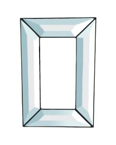 "Rectangle Frame Bevel Cluster, 9"" x 6"""