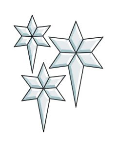 Three Stars Bevel Cluster